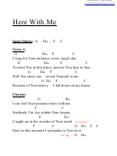 Here With Me (f) Chord Chart