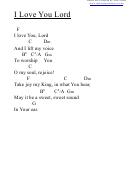 Chord Chart - I Love You Lord (f)