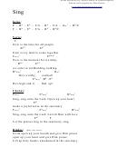 Sing (f) Chord Chart