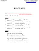 Deliver Me (g) Chord Chart