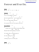 Chord Chart - Forever And Ever Etc (g)