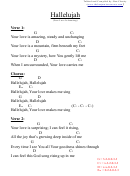 Hallelujah (your Love Is Amazing) Tabbed And Compiled By Ben Charity