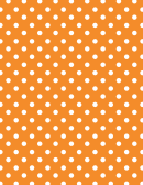 Orange Polka Dot Pattern Paper