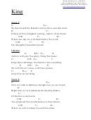 King (g) Chord Chart