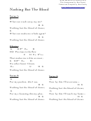 Robert Lowery - Nothing But The Blood (g) Chord Chart