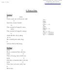 O Praise Him (g) Chord Chart
