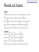 Chord Chart - Rock Of Ages (g)