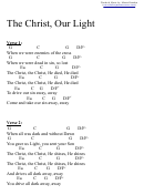 The Christ, Our Light (g) Chord Chart