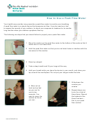 How To Use A Peak Flow Meter Instruction Sheet
