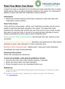 Peak Flow Meter Instructions Fact Sheet