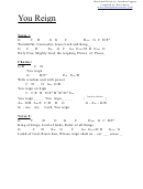 Chord Chart - You Reign (g)