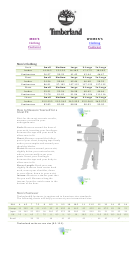 Timberland Size Chart