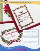 Christmas Quilt Label Templates