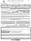 Form Vtr-262 - Affidavit Of Heirship For A Motor Vehicle