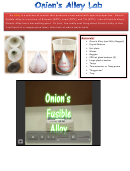 Onion Alloy Lab - My Science 8