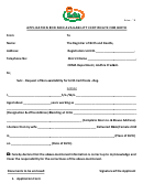 Application For Non Availability Certificate For Birth