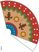 Multicolor Teepee Template