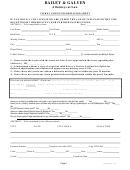 Ticket Client Information Sheet
