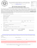 Branch Registration Form - Texas Board Of Professional Land Surveying