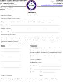 Vendor Form - Carroll County Health Department