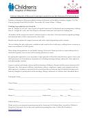 Children's Hospital Of Wisconsin Model Casting Registration Form