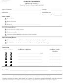 Graduate School Form 7 - Purdue University