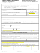 Dhmh-4758 - Medication Administration Authorization Form For Youth Camps In Maryland