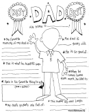 Kids Activity Sheet - Best Dad
