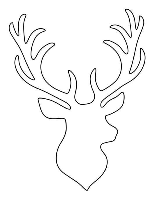 stag head pattern printable pdf download