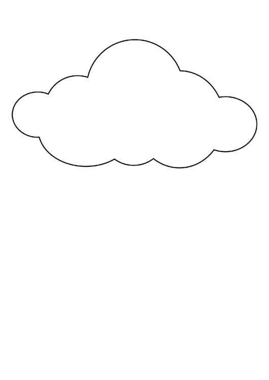 large cloud pattern template printable pdf download