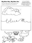 Big Blue Sky, Big Blue Sea Kids Activity Sheet