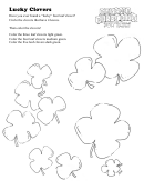 Lucky Clovers Kids Activity Sheet