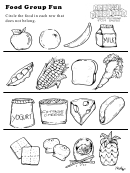 Food Group Fun Activity Sheet