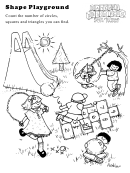 Shape Playground Kids Activity Sheet