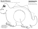 Snack-o-saurus Activity Sheet