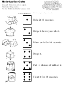 Melt-an-ice Cube Kids Activity Sheet