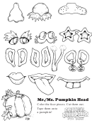 Mr./ms. Pumpkin Head Kids Activity Sheet