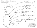 Colors Of The Rainbow Kids Activity Sheet