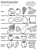 Food Group Find Kids Activity Sheet