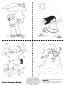 Four Seasons Book Kids Activity Sheet