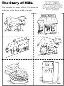 The Story Of Milk Kids Activity Sheet