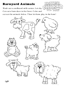 Barnyard Animals Kids Activity Sheet