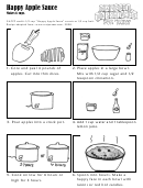 Happy Apple Sauce Kids Activity Sheet