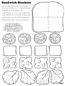 Sandwich Stackers Kids Activity Sheet