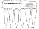 How Many Carrots Long Kids Activity Sheet