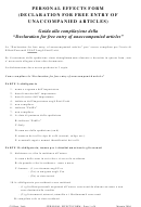 Cbp Form 3299 United States Customs Service - Declaration For Free ...