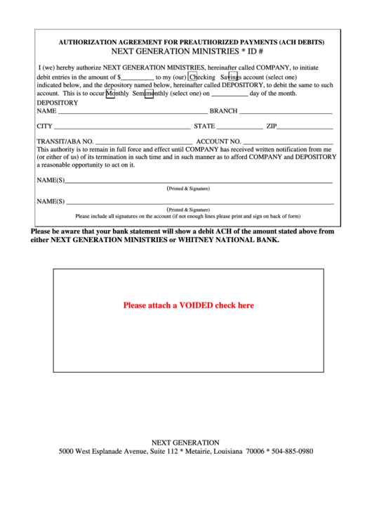 Top 13 Ach Authorization Form Templates Free To Download In Pdf Format