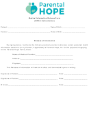 Medical Information Release Form (hipaa Authorization)