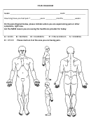 Body Pain Diagram Template