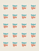 Baked With Love Food Label Template